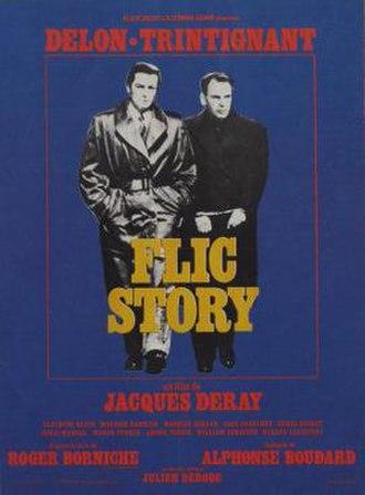 Flic Story - Original movie poster, featuring Delon and Trintignant