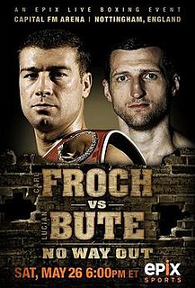 Carl Froch vs. Lucian Bute Boxing competition