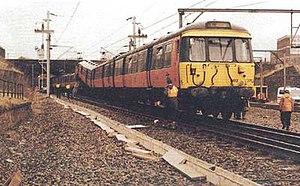 Glasgow Bellgrove rail accident - Image: Glasgow Bellgrove crash 1989