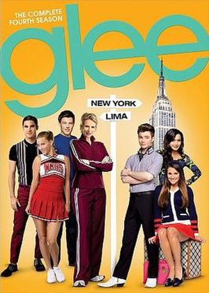 Glee (season 4) - Promotional poster and home media cover art
