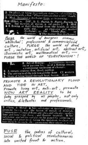 Fluxus - Fluxus Manifesto, 1963, by George Maciunas