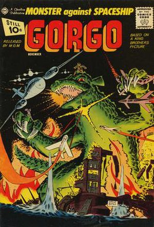 Gorgo (film) - Cover to issue No. 4 of Gorgo published by Charlton Comics. Art by Steve Ditko.