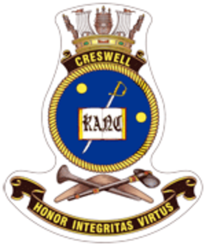 HMAS Creswell - Ship's badge of HMAS Creswell