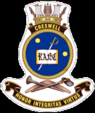 HMAS Creswell - Ship's badge of HMAS Creswell