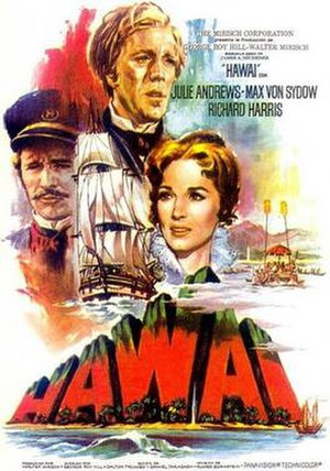 Hawaii (1966 film) - original 1966 Spanish language film poster