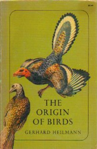 The Origin of Birds - Cover illustration of the 1972 Dover reprint edition of The Origin of Birds, based on a painting by Gerhard Heilmann