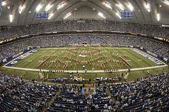 Indiana University Marching Hundred - The IU Marching Hundred performing at the RCA Dome.