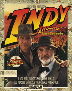Indiana Jones and the Last Crusade: The Graphic Adventure - DOS Cover art