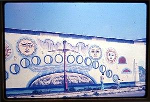 Joe Funk - Joe Funk's mural at 3rd and Sunset Avenue in Los Angeles, 1979