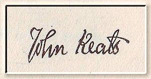 John Keats Signature