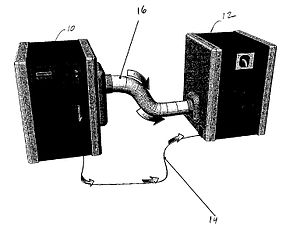 Dean Kamen - Kamen Stirling Generator 10 coupled to Water Still 12 (from US patent 7,340,879)