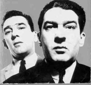 The Kray twins, Reginald (left) and Ronald (ri...