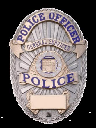 Los Angeles General Services Police - Image: LA General Services Police Badge