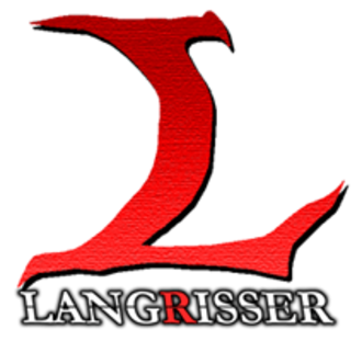Langrisser - The series logo used in all games from Langrisser III onward, including remakes