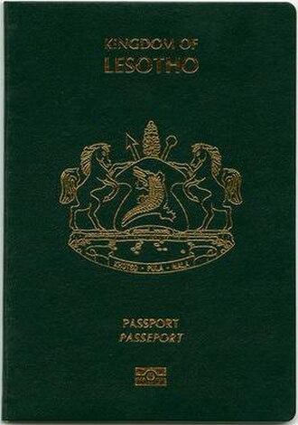 Lesotho passport - Lesotho passport front cover