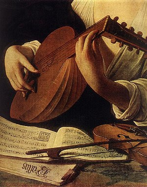 The Lute Player (Caravaggio) - The Lute Player (detail from the Hermitage version).