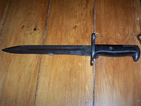 M1 Bayonet made by American Fork & Hoe; used with M1 Garand