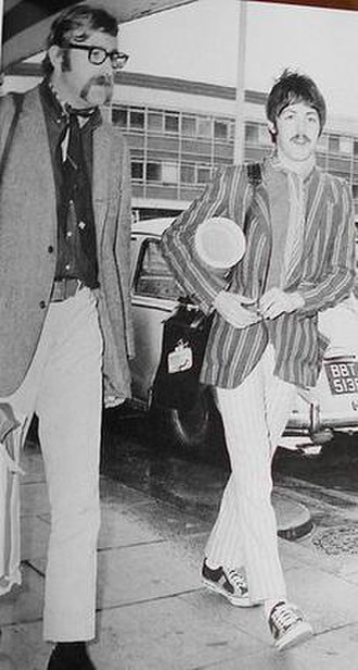 Mal Evans - Evans and McCartney at Heathrow airport in 1966, after their African trip.