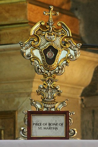 Martha - Relic from the bones of Saint Martha, Virgin and Disciple of the Lord, venerated in her Diocesan Shrine in Pateros, Metro Manila