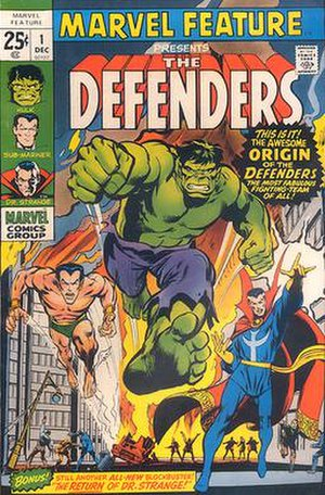 Defenders (comics) - Image: Marvel Feature 1 (1971)