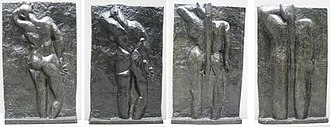The Back Series - Image: Matisse left to right 'The Back I', 1908 09, 'The Back II', 1913, 'The Back III' 1916, 'The Back IV', c. 1931, bronze, Museum of Modern Art (New York City)
