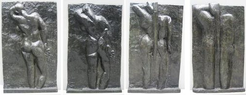 File:Matisse - left to right 'The Back I', 1908-09, 'The Back II', 1913, 'The Back III' 1916, 'The Back IV', c. 1931, bronze, Museum of Modern Art (New York City).jpg