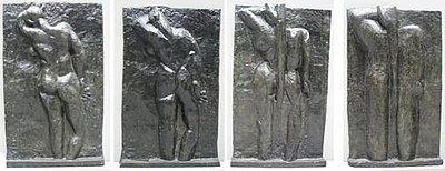 Henri Matisse, The Back Series, bronze, left to right: The Back I, 1908-09, The Back II, 1913, The Back III 1916, The Back IV, c. 1931, all Museum of Modern Art, New York City