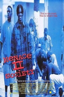 <i>Menace II Society</i> 1993 film directed by Albert and Allen Hughes