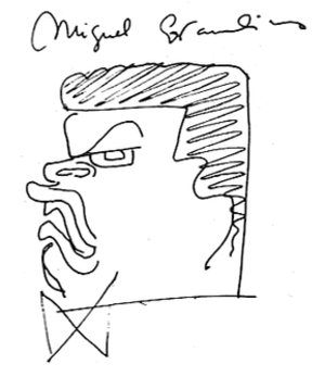 Miguel Covarrubias - Covarrubias's caricature of himself as an Olmec.