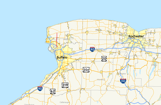 New York State Route 429 - Image: New York State Route 429 map