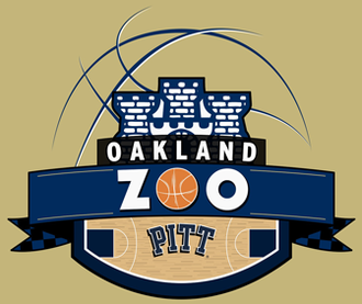 Oakland Zoo (cheering section) - The eleventh iteration of the logo that appears on the front of Oakland Zoo T-shirts for the 2012-13 season. The logo incorporates elements from the University of Pittsburgh's seal.