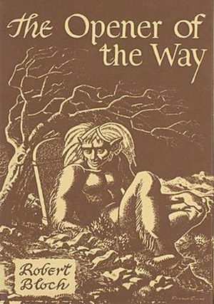 The Opener of the Way - Dust-jacket illustration by Ronald Clyne for The Opener of the Way