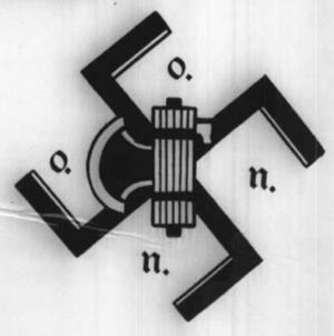 Ordine Nero - Logo from a 1974 flyer