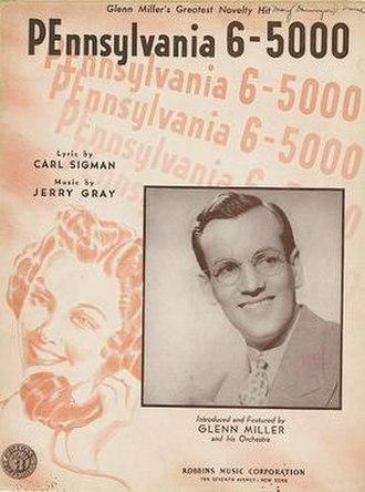 Pennsylvania 6-5000 (song) - Alternate cover.