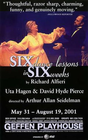 Six Dance Lessons in Six Weeks - Theatrical poster for the world premiere season in 2001
