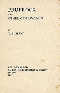 The Love Song of J. Alfred Prufrock poem by T.S. Eliot