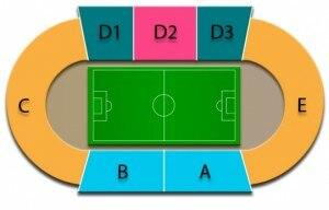 Qemal Stafa Stadium - The tribune scheme
