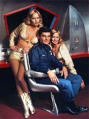 Quark (TV series) - Richard Benjamin and the Barnstable twins in NBC's Quark