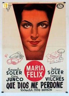 <i>Que Dios me perdone</i> 1948 Mexican film directed by Tito Davison