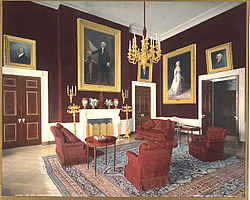 The Red Room During Administration Of Theodore Roosevelt