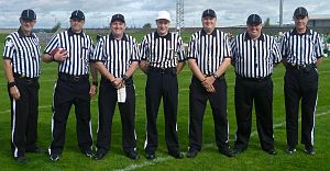 British American Football Referees' Association - A typical BAFRA crew at South Leeds Stadium