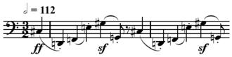 Hexachord - Image: Schoenberg Die Jakobsleiter opening hexachord