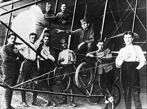 Serbian Air Force and Air Defence - Mechanics of the Serbian Aeroplane Escadre during an training in March 1916 (Châtres or Corfu)