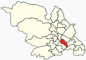 Arbourthorne - Image: Sheffield wards Arbourthorne