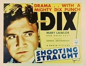 Shooting Straight - Theatrical release poster