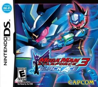 Mega Man Star Force 3 - North American box art showing the Black Ace version. Not pictured: Red Joker version.