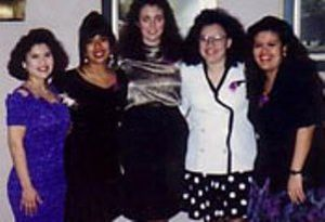 Sigma Lambda Gamma - A snapshot of the five Founding Mothers of the sorority