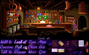 Simon the Sorcerer - Simon in a shop, DOS non-talkie version