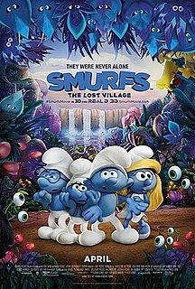<i>Smurfs: The Lost Village</i> 2017 American computer-animated fantasy comedy film