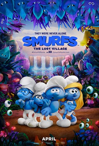 Smurfs: The Lost Village - Theatrical release poster